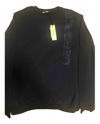 Versace Navy Cotton Knitwear & Sweatshirts