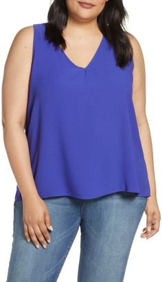 Gibson Carmel High/Low V-Neck Top (Plus Size)