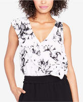 Rachel Roy Ruffled Printed Top, Created for Macy's