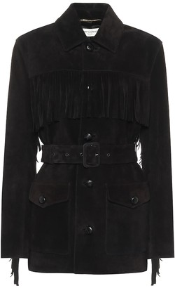 Saint Laurent Belted suede jacket