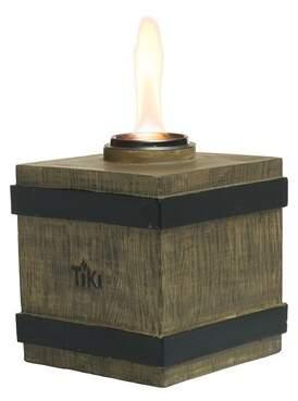 TIKI Brand Clean Burn Fire Crate Resin Tabletop Torch TIKI Brand