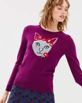 Cat Cashmere Intarsia Knit