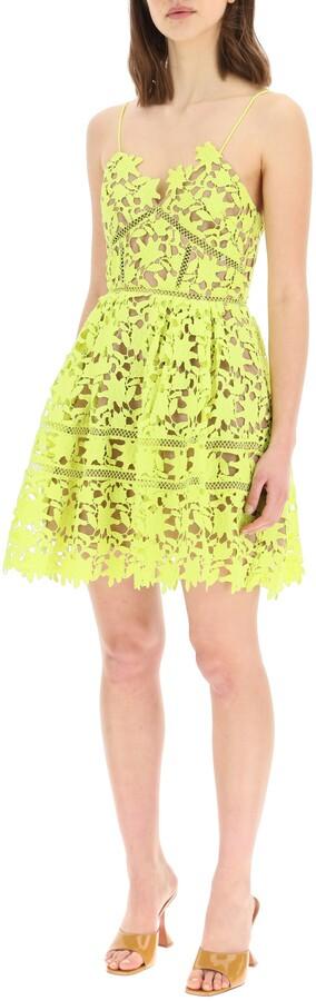 Thumbnail for your product : Self-Portrait AZALEA SHORT DRESS 6 Yellow