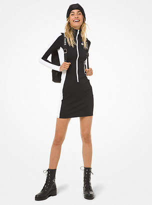 Michael Kors Color-Block Scuba Zip Dress