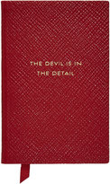 Smythson Panama The Devil is in the Details Leather Notebook