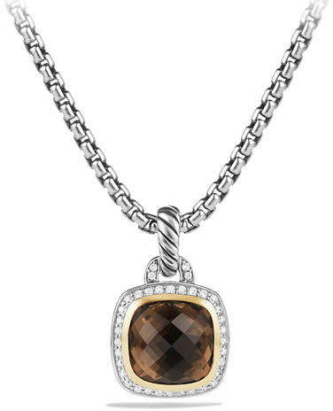 David Yurman Albion Pendant with Champagne Citrine and Diamonds with 18k Gold