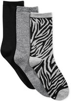Charter Club Women's 3-Pk. Zebra Socks, Only at Macy's