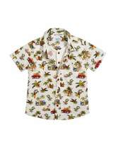 Mayoral Short-Sleeve Jungle-Print Shirt w/ Henley Tee, Size 12-36 Months