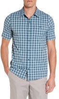 Travis Mathew Men's Vercruse Plaid Performance Sport Shirt