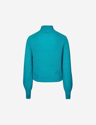 Alberta Ferretti High-neck mohair-blend jumper