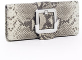 Sutton Python-Embossed Clutch