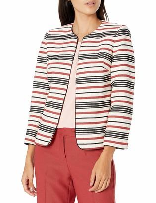 Anne Klein Women's Piped Collarless Jacket