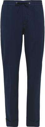 NN07 Sebastian Tapered Cotton-Blend Seersucker Drawstring Trousers
