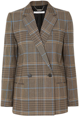 Givenchy Double-breasted Checked Wool-blend Blazer