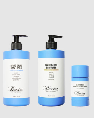 Baxter of California Body Care Essentials Set - Body Wash and Body Lotion, Deodorant