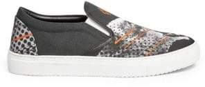 Marcelo Burlon County of Milan Sham Cheetah Slip-On Sneakers