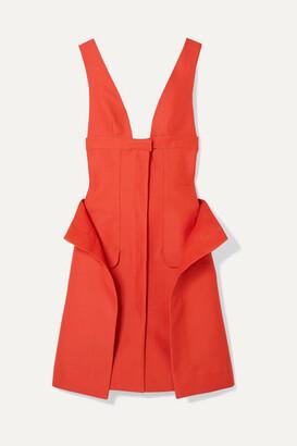 Jacquemus La Robe Lecci Draped Cotton-blend Dress - Tomato red