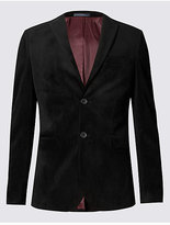 Limited Edition Slim Fit Single Breasted Velvet Jacket