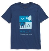 RVCA Boy's Surf Check Graphic Print T-Shirt