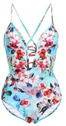 Jets Flora Plunge Cutout Floral-print Swimsuit