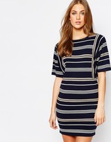 Warehouse Knitted Stripe Dress