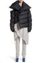 Marques Almeida Women's Marques'Almeida Asymmetrical Down Puffer Coat With Safety Pin Closure