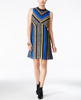 Bar III Sleeveless Striped Dress, Only at Macy's