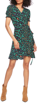 Diane von Furstenberg Emilia Ruffle Crepe Mini Wrap Dress