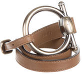 Salvatore Ferragamo Gancini Leather Waist Belt
