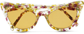 Ganni Cat-eye Printed Acetate Sunglasses