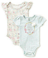 Baby Starters Baby Girls 3-12 Months Floral Cap-Sleeve Bodysuit Two-Pack
