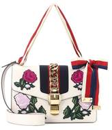 Gucci Sylvie Small embroidered leather bag