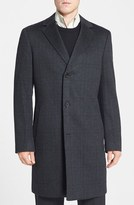 John W. Nordstrom 'Clifton' Plaid Cashmere Overcoat