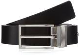 Jeff Banks Black Reversible Leather Buckle Belt
