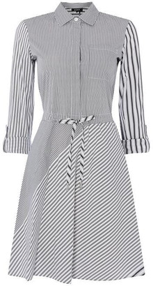 DKNY Long Sleeve Button Dress