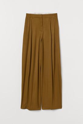 H&M Wide-leg Pants - Green