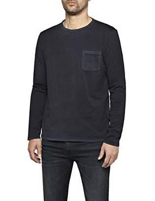 Replay Men's M3895 .000.22326 Long Sleeve Top, (Blue Grey 499)