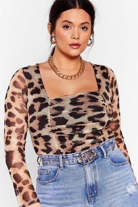 Nasty Gal Womens Love Like Ours Plus Leopard Bodysuit - Brown - 18