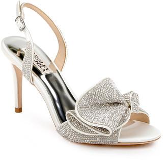 Badgley Mischka Rennie Strass Ruffle Slingback Sandals