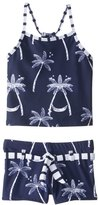 Snapper Rock Girls' Midnight Palm Tankini Set (614) - 8155104