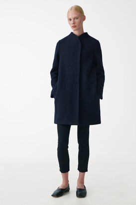 Cos Stand Collar Wool Coat