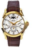 Seiko Men's SRX004 Premier Brown Leather Strap Dial Watch