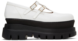 MSGM White Platform Mary Jane Oxfords
