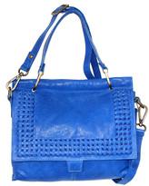 Nino Bossi Handbags Women's Satchels Cobalt - Cobalt Alexis Leather Satchel