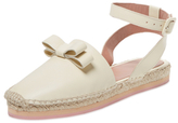 RED Valentino Leather Ankle-Wrap Espadrille