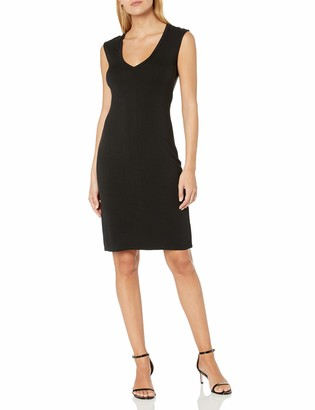 Kenneth Cole Women's Classic Fitted V-Neck Dress