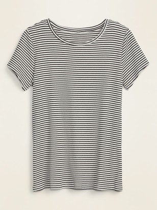 Old Navy Slim-Fit Striped Rib-Knit Plus-Size Tee