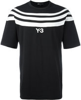 Y-3 striped chest T-shirt