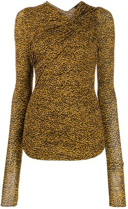 Isabel Marant Ruched Shoulder Top