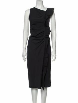 Max Mara Asymmetrical Midi Length Dress w/ Tags Blue